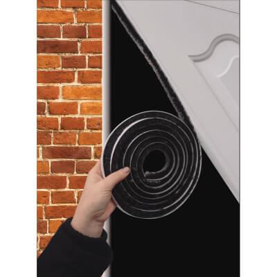 Stormguard Extra Thick Self-Adhesive Brush Pile - 7m - Black)