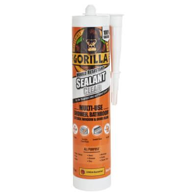 Gorilla Mould Resistant Sealant - 295ml - Clear)