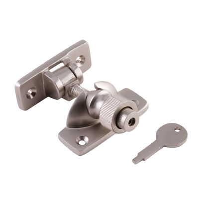 Brighton Screw Pattern Locking Fastener - 57mm - Satin Nickel