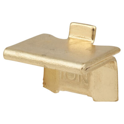 ION Heavy Duty Raised Bookcase Clip - Electro Brass Plated - Pack 10