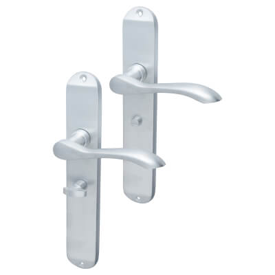 Elan Altea Door Handle - Bathroom Set - Satin Chrome