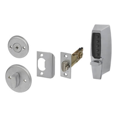 Kaba Unican Light Duty Mechanical Code Lock - Satin Chrome)