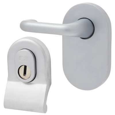 A-Spec Cylinder Pull and Disabled Turn for Mortice Nightlatch - Satin Chrome