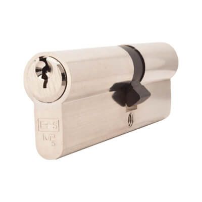 5 Pin Cylinder - Euro Double - 40 + 50mm - Nickel