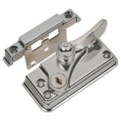 Fab & Fix High Security Heritage Fitch Fastener Cam Lock and Large Keep - Chrome