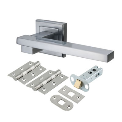 Morello Source Door Handle - Door Kit - Satin Chrome