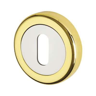 Morello Escutcheon - Keyhole - Polished Brass/Chrome