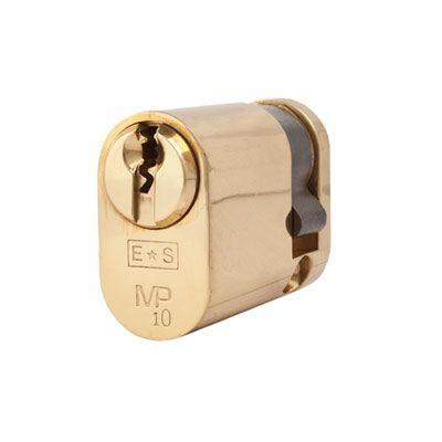 Eurospec MP10 - Oval Single Cylinder - 32 + 10mm - Polished Brass  - Keyed Alike