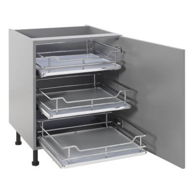 25kg Single Soft Close Pull Out Organiser - Cabinet Width 450mm