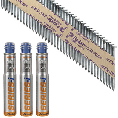 Paslode IM90I Nail - First Fix - 63 x 2.8mm - Galv Plus - Pack 3750)