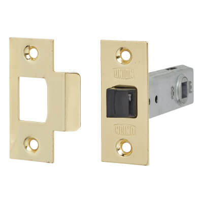 UNION® 2648 Tubular Mortice Latch - 80mm Case - 57mm Backset - Polished Brass