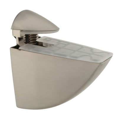 Pelican Shelf Support Bracket - 8-40mm Shelf Thickness - Brushed Nickel