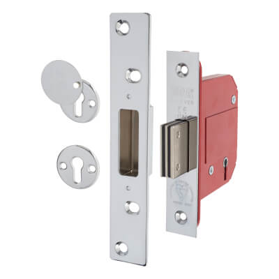ERA® BS3621:2007 5 Lever Deadlock - 79mm Case - 56mm Backset - Chrome