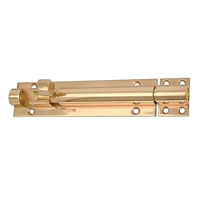 Straight Barrel Bolt - 300 x 40mm - Polished Brass