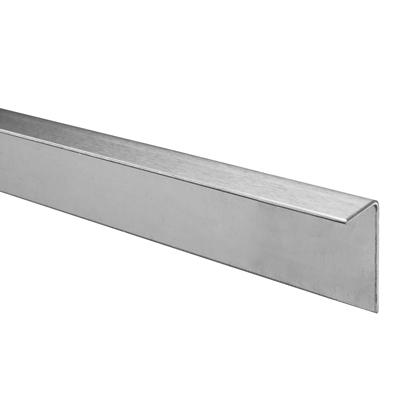 Cubicle Head Rail - 'L' Angled - 19-20mm Panels - 316 Stainless Steel