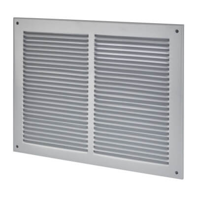 Vent Cover - 340 x 265mm to suit block 300 x 225mm - Silver)