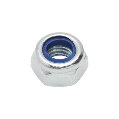 Self Locking Nut Nylon Insert - M6 - Zinc Plated - Pack 25