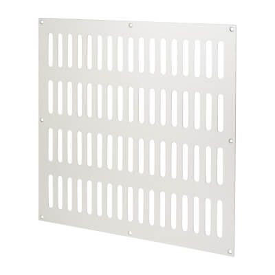 Plain Slotted Vent - 305 x 305mm - 24836mm2 Free Air Flow - Satin Aluminium)