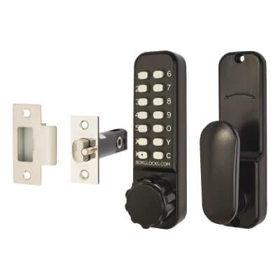 Borg BL2601 Marine Grade Easicode Pro Code Operated Lock with Thumbturn - Black)