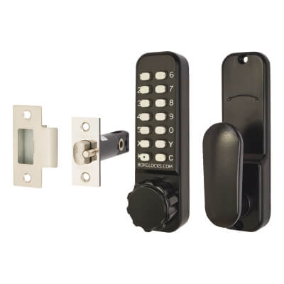 Borg BL2601 Marine Grade Easicode Pro Code Operated Lock with Thumbturn - Black