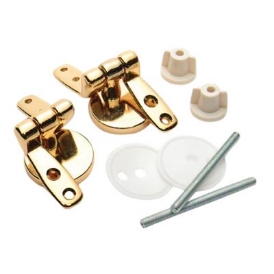Toilet Seat Hinge - 57 x 32mm - Brass