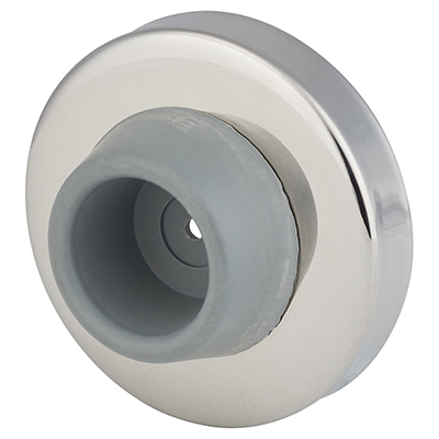 Wall Buffer Door Stop - 55mm - Polished Stainless Steel)