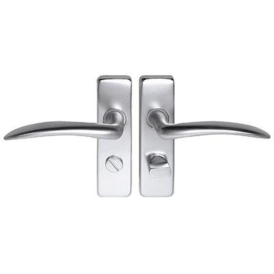 Project Wing Door Handle - Bathroom Set - Satin Aluminium