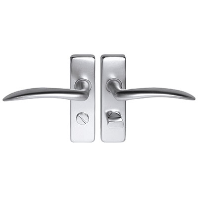 Project Wing Door Handle - Bathroom Set - Satin Aluminium