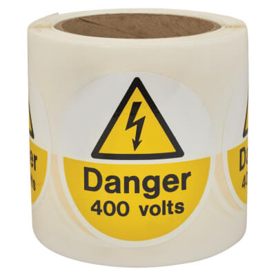 Self Adhesive Vinyl Labels - Danger 400 Volts