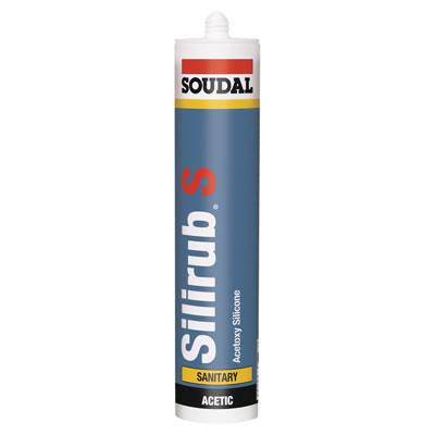 Soudal Silirub S Sanitary Silicone - 310ml - White)
