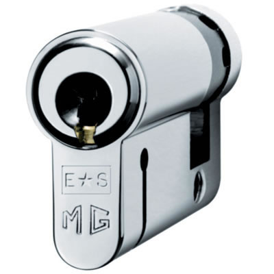 Eurospec MP15 - Euro Single Cylinder - 35 + 10mm - Polished Chrome  - Keyed to Differ