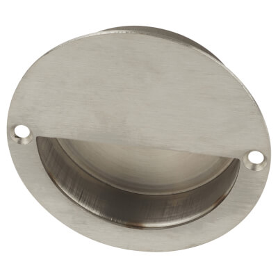 Altro Circular Flush Cabinet Handle - 90mm - Satin Stainless Steel)
