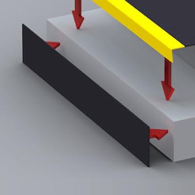 SlipGrip Riser Plate - 1000 x 145mm - Black)