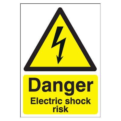 Danger Electric Shock Risk - 420 x 297mm