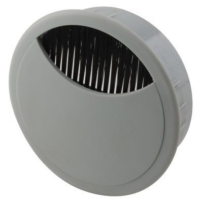 ION Round Cable Tidy - 80mm - Grey - Pack 10