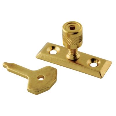 Locking Casement Stay Pin - Brass Plated