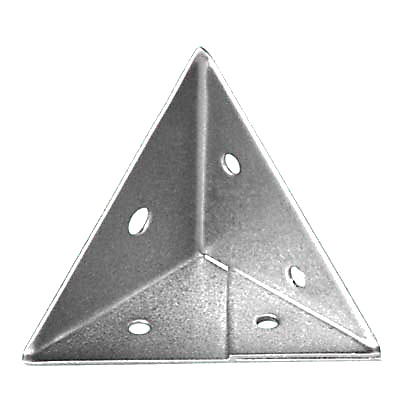 Pyramid Corner Brace - Zinc Plated Steel - Pack 10