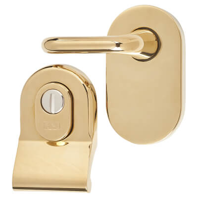 A-Spec Cylinder Pull and Disabled Turn for Mortice Nightlatch - PVD Brass