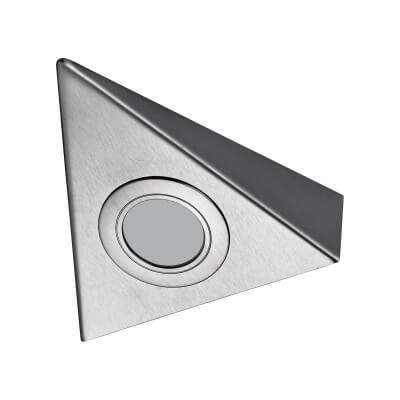 Sensio TrioTone Bermuda - Colour Selectable LED Cabinet Light - Triangular - Stainless Steel)