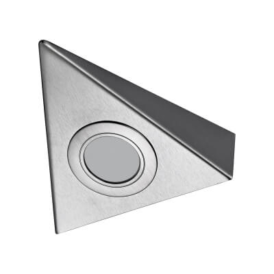 Sensio TrioTone Bermuda - Colour Selectable LED Cabinet Light - Triangular - Stainless Steel)