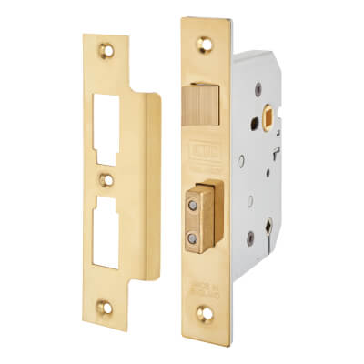UNION® 2226 Bathroom Lock - 65mm Case - 44.5mm Backset - Polished Brass