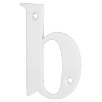 76mm Letter - B - White