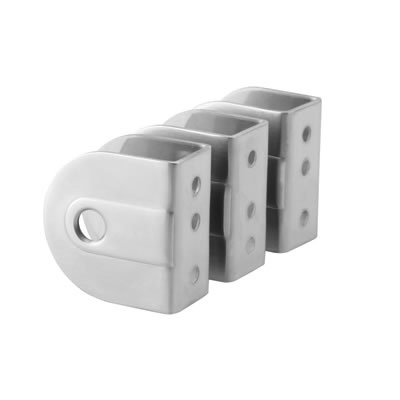 Cubicle Wall/Panel Brackets - 19-20mm Panels - 316 Stainless Steel - Pack 3