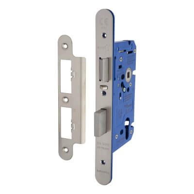 A-Spec Architectural DIN Euro Escape Sashlock - 85mm Case - 60mm Backset - Radius - Satin Stainless