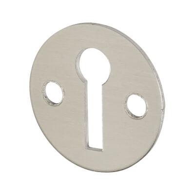 Victorian Escutcheon - Keyhole - Satin Aluminium