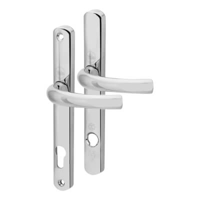 Yale® - TS007 2 Star Platinum Security Handle - uPVC/Timber - 92mm centres - Polished Chrome)