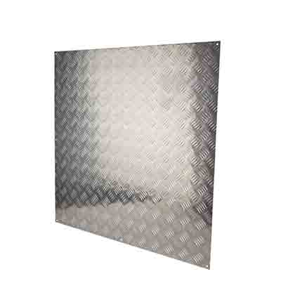 Half Door Panel Kick Plate - 760 x 760mm - 5 Bar Tread Aluminium)