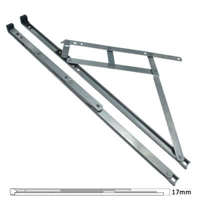 Standard Friction Hinge - uPVC/Timber - 16mm Stack - 20 inch / 500mm - Top Hung - Pair