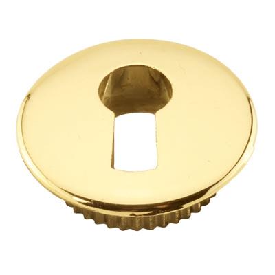 Push To Fit Cabinet Escutcheon - Gold