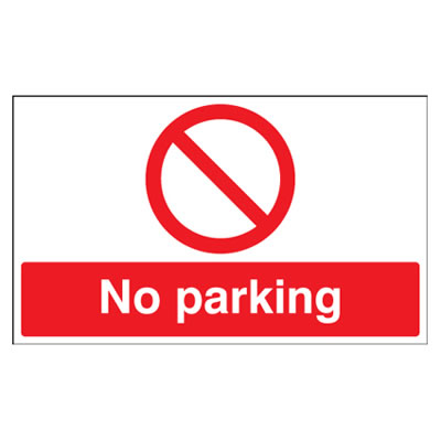 No Parking - 300 x 500mm - Rigid Plastic